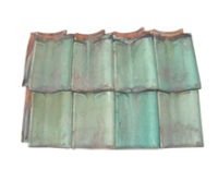 Green Glazed D & G Pantile
